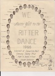 Ray 1966 Ritter Dance Invitation