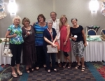 Members of RKC 1966 50th Reunion Committee touring Holiday Inn Marina Ballroom -- Debbie, Kim, Sherrie, Melissa, Todd, L