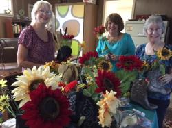 Debbie Gathings Nicholson, Kim Keith, Melissa Stovall Childs - working on decorations